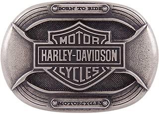 Harley-Davidson Men's Parts Belt Buckle, Antique Nickel Finish HDMBU11399