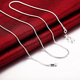 "Metmejiao 3 Pieces 925 Sterling Silver 1mm Snake Chain Necklace Jewelry Jewelry for Men and Women (16""-30\"") (22)"
