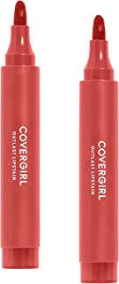 Covergirl Outlast Lipstain, Flirty Nude 435, 2 Count