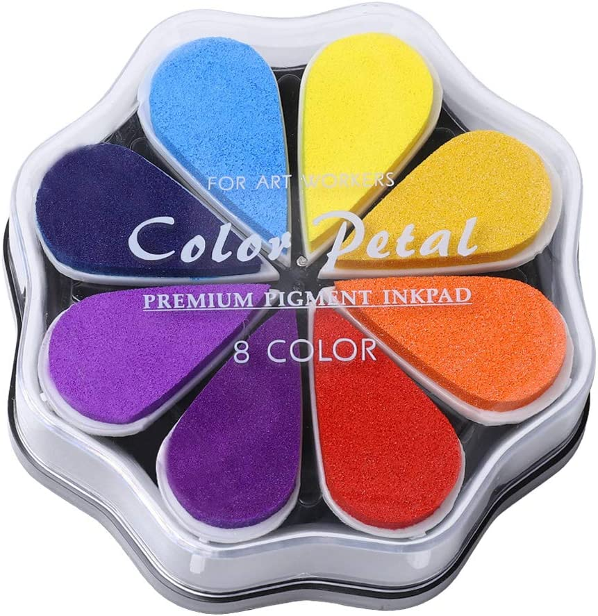 8 Colors Craft Rainbow Finger Ink Pads Color Super sale period limited New Free Shipping Box Stamps Pigment