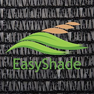 EasyShade Black 40% Shade Cloth UV Resistant Fabric 6ft x 50ft Clips Free