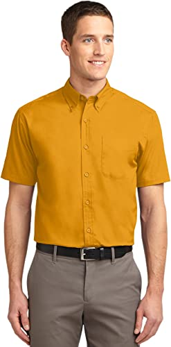 Port Authority Hommes's manche courte Easy voituree Shirt 3XL Athletic or lumière Stone