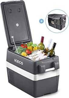 ICECO JP40 Portable Refrigerator Fridge Freezer, 12V Cooler Refrigerator, 40 Liters Compact Refrigerator with Secop Compre...