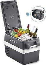 ICECO JP40 Portable Refrigerator Fridge Freezer, 12V Cooler Refrigerator, 40 Liters Compact Refrigerator with Secop Compressor, for Car & Home Use, 0?~50?, DC 12/24V, AC 110/240V