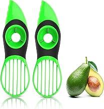 VAYAY 2 Pack-Avocado Slicer,3-in-1 Avocado Cutter Tool with Comfort-Grip Handle,BPA Free Multifunctional Avocado Knife,Wor...