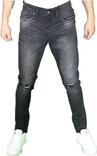 Men's Fashion Distressed Ripped Jeans Premium Denim Quality Slim Fit Stretched Fashion Jean Pants Big & Tall