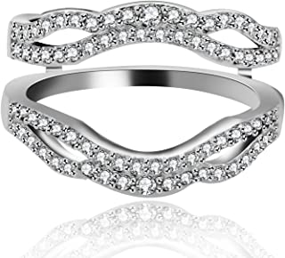 cheap sterling silver cubic zirconia rings
