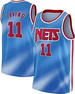 PANGOIE Men's Women Basketball Swingman Jersey - Basketball Uniform 11# Irving Jerseys Breathable Embroidery T-Shirts Vests