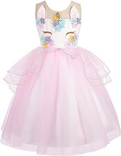 Dressy Daisy Girls Dress Unicorn Costume Princess Party Dress up
