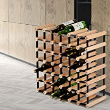 Artiss Wine Rack 42 Bottles Free Standing Wooden Wine Storage Display Shelf