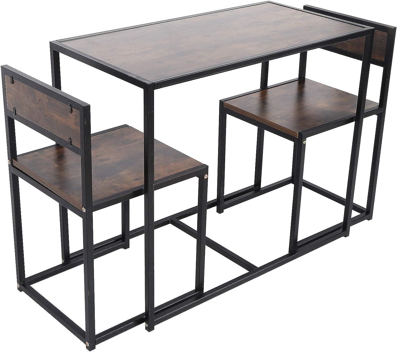 List price XQAQX Table Set Dining Imitation Wood Grain with C mart