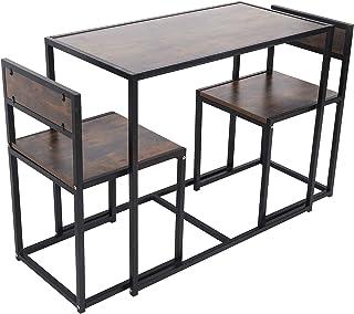 Germerse Bureau de Table d'écriture, Ensemble de Table de Chaise de Salle à Manger Robuste économisant de l'espace, pour l...