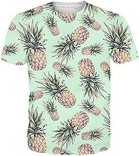 Funnycokid Unisex T Shirts 3D Drucken Kurzarm Sommer Männer Herren T-Shirt