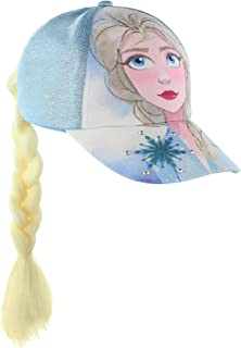 Frozen Queen Elsa & Anna Baseball Cap With Faux Hair...