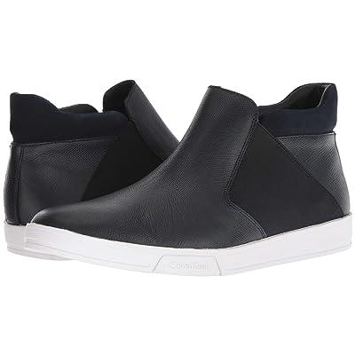 Calvin Klein Basilio (Dark Navy Small Tumbled Leather) Men