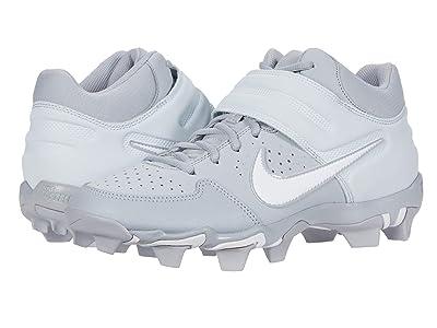 Nike Alpha Huarache Varsity Keystone Mid (Wolf Grey/White/Pure Platinum) Men