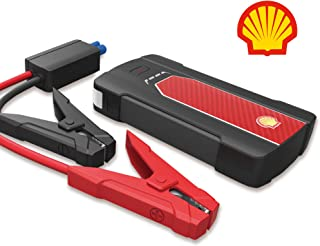 Shell Car Battery Jump Starter - 12V Lithium Polymer Auto Battery Jumper Kit for Cars, Truck, SUV, Van, Boat - USB Quick Charge Portable Power Pack - Charges up to 6.8L gas engine or 2.5L diesel
