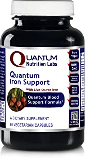 Quantum Iron Support, 60 Vegetarian Capsules - Quantum-State Blood Support Formula Featuring Live-Source Iron (Formerly Qu...