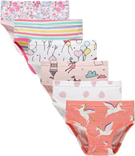 Little Girls' Soft Cotton Underwear Bring Cool, Breathable Comfort Experience Panty(3/4t variety, Pack of 6)