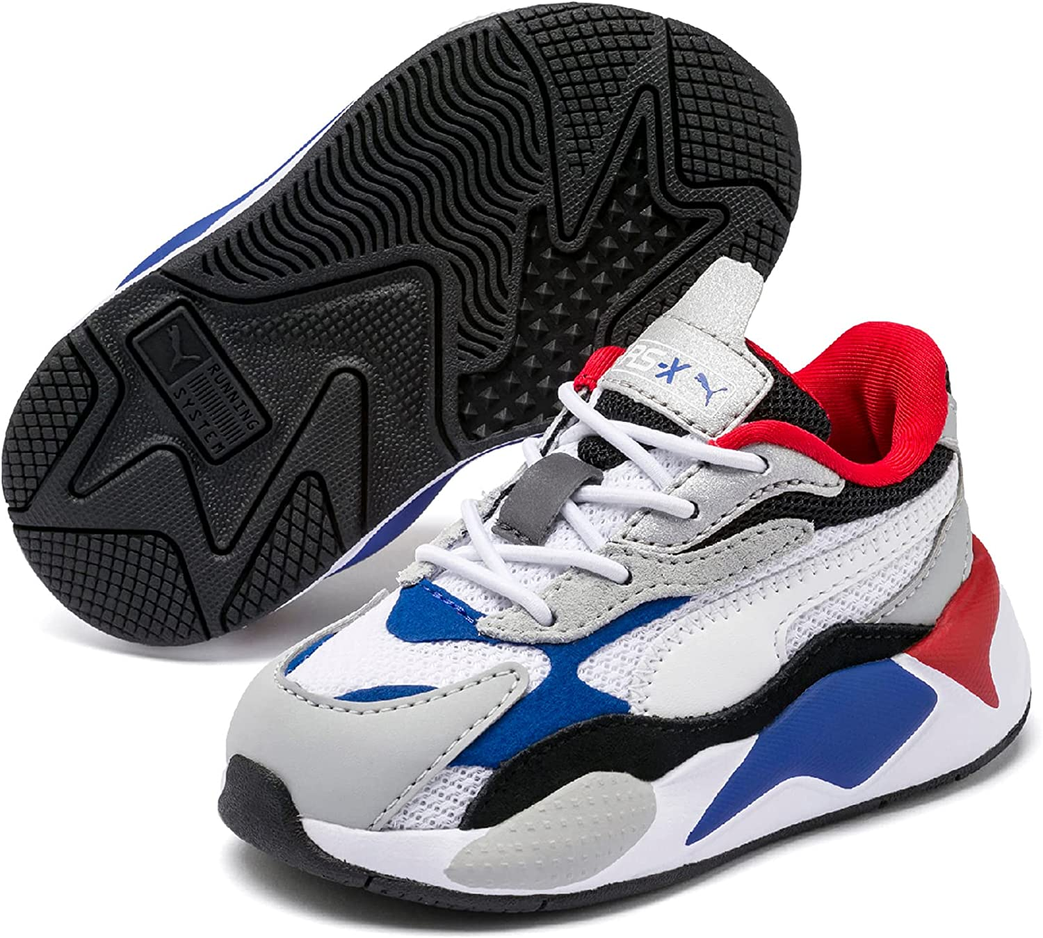 PUMA boys Rs-x3 Puzzle Lace Up Sneakers (Toddler)