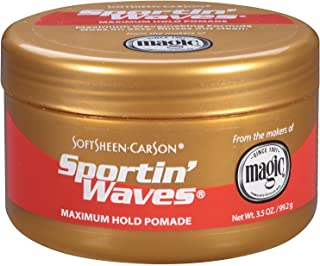 Soft Sheen Sportin Waves Max. Hold Pomade 3.5oz (2 Pack)