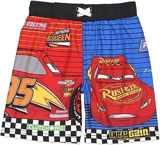 48102a9218 Disney Cars 3 Lightning McQueen Boy's Swim Trunks Swimwear (Little Kid/Big  ...