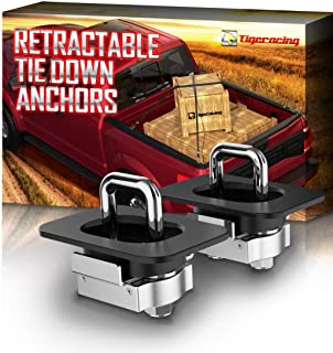 Tigeracing Tie Down Anchors Retractable Truck Bed D Ring Compatible 2019 Ram 1500 (ONLY Classic Model,NOT New) | 2019-2020...