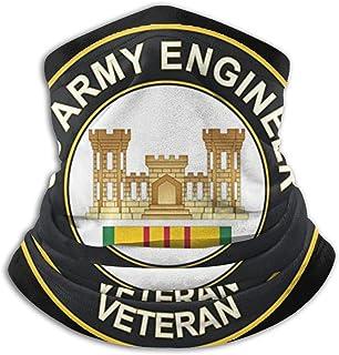 US Army Engineer Vietnam Veterano Unisex a prueba de viento bufanda deportiva al aire libre calentador de cuello pañuelo pasamontañas