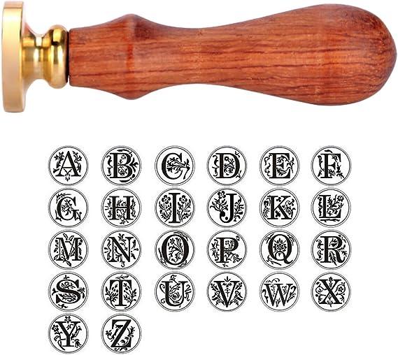 Alphabet Sceau de Cire Poignée de Cachet Classique Initial Timbre Manche En