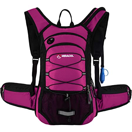 Multiple Storage /& Security Features Prefect Outdoor Gear for Cycling Hydration Hiking Backpack 16L Sport Water Lightweight Daypack with 2L Leak-Proof Bladder for Women Men Running Climbing