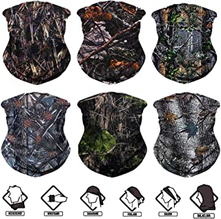Neck Gaiter, 6PCS/ 9PCS/ 12PCS Sport Headwear Face Bandana Mask Elastic UV Resistence Magic Headband for Men and Women