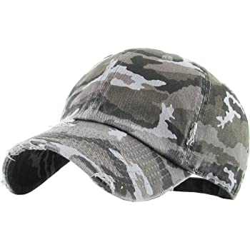 Vintage Washed Distressed Cotton Dad Hat Baseball Cap Adjustable Polo Trucker Unisex Style Headwear