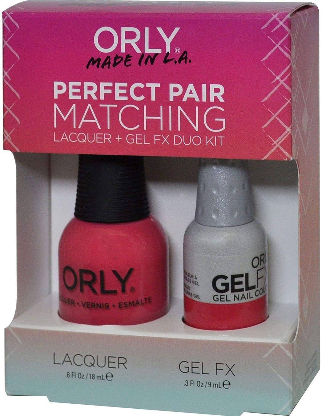 任命ストライプ正直Orly Nail Lacquer + Gel FX - Perfect Pair Matching DUO - Lola