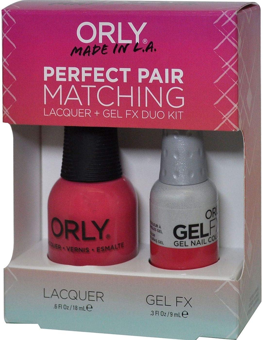 ボクシング口述リスクOrly Nail Lacquer + Gel FX - Perfect Pair Matching DUO - Lola