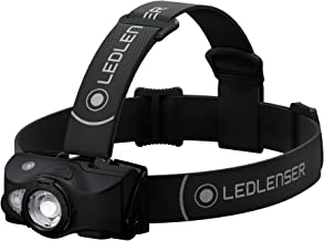 Ledlenser, MH8 Lightweight Rechargeable Headlamp with Removable Headstrap, High Power LED, 600 Lumens, Backpacking, Hikin...