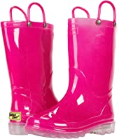 Solid Pink Lighted Rain Boots (Toddler/Little Kid))