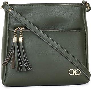 GLOSSY Women's Sling Bag (Green)