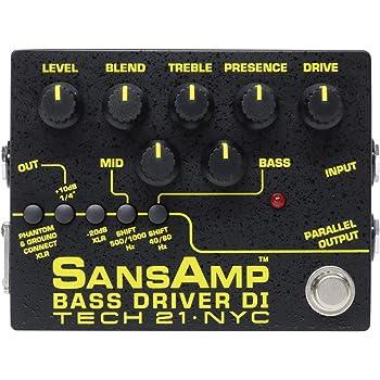 Tech21 SANSAMP ベース用 ドライブエフェクター・アンプシュミレーター・DI機能 BASS DRIVER DI V2【国内正規品】