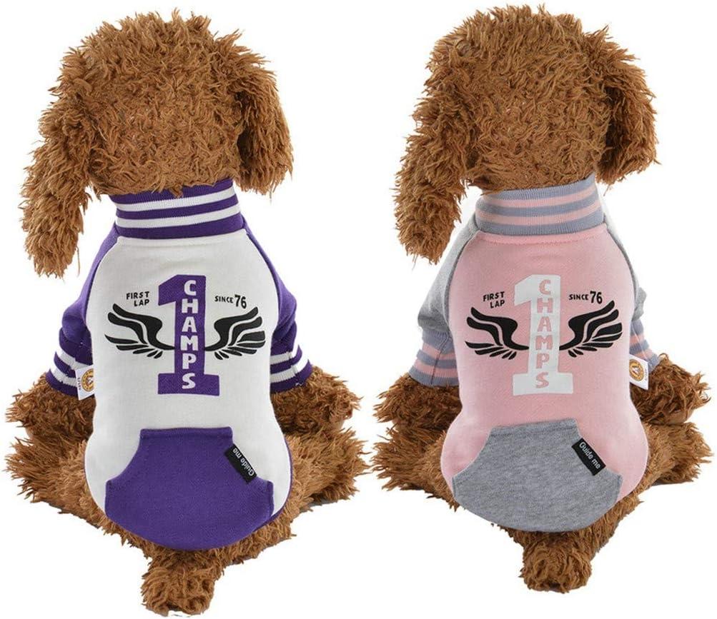Coversolat Hundekleidung f/ür Kleine Hunde Winter Sweatshirt Langarm Warme T-Shirt Pullis f/ür Katzen Hund
