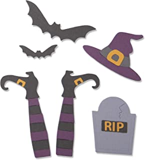 Sizzix 663461 Spooky Witch by Georgie Evans Dies, Multicolor