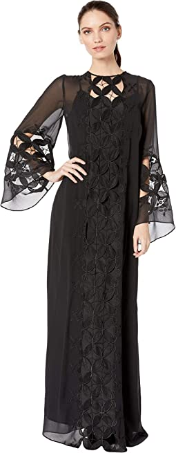 Embroidered Lace Kaftan