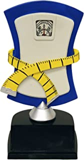 Decade Awards Weight Loss Trophy - Biggest Loser Award - Scale Trophy - 7.5 Inch Tall - Engraved Plate on Request