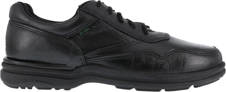 Rockport Mens Black Leather Work Shoes Postwalk Athletic Oxford