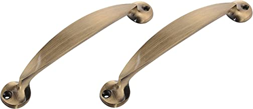 Klaxon Brass Door Handle Set (Antique, Antique Finish, Pack of 2)
