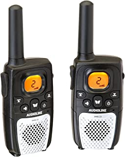 Audioline PMR 23 Funkgerät Set mit LCD Display (8 Kanäle, Gürtelclip, Tastensperre)