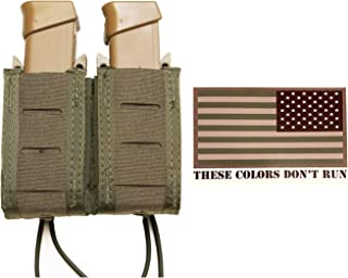 HSGI Duty Double Pistol Taco - Molle & Belt Mountable - 3x5 American Flag Decal