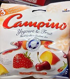 Campino Yogurt & Fruit Hard Candies - Strawberry, Cherry, Peach (120g / 4.2oz)