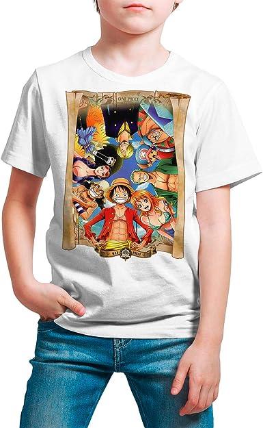 Camiseta Serie Manga y Anime Niño - Unisex One Piece: Amazon ...