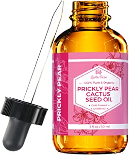 Prickly Pear Cactus Seed Oil (Barbary Fig) by Leven Rose 100% Pure Organic, Extra Virgin, Cold Pressed, All...
