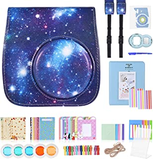 13 in 1 Accessories Kit for Fujifilm Instax Mini 8/8+/8s/9 Include Camera Case/Strap/Sticker/Selfie Lens/Colored Filter/Al...